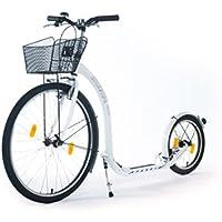 Kickbike City G4 - Tretroller für Erwachsene - Scooter Cityroller Finnscoot schwarz / weiß