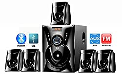 I KALL 5.1 Bluetooth Speaker (TA-111 BT) Portable Home audio speaker with USB port and Aux Cable- Black
