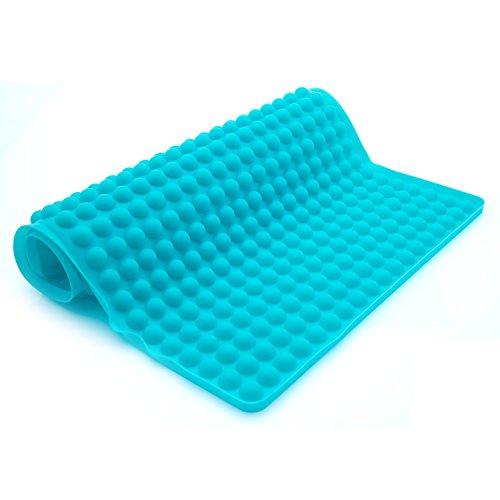 Collory Silikon-Backmatte mit Auffang-Rand und runden Noppen | Dauer-Backunterlage für Backblech | Hitzebeständig -40°C bis 230°C | Größe 40 x 29 x 0.7 cm | Lebensmittelecht (BPA-frei) | Antihaftbeschichtet