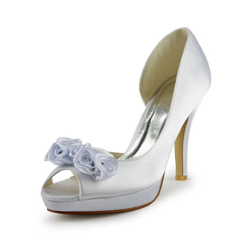 Jia Jia Wedding 3704 Scarpe Sposa Scarpe col tacco donna Bianco
