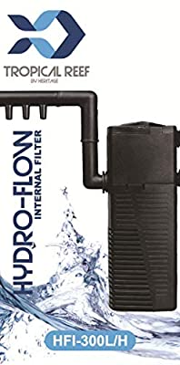 Tropical-Reef Hydro-Flow HFI-300L/H Aquarium Internal Filter With Spraybar Fish Tank Filtration from Tropical-Reef by Heritage