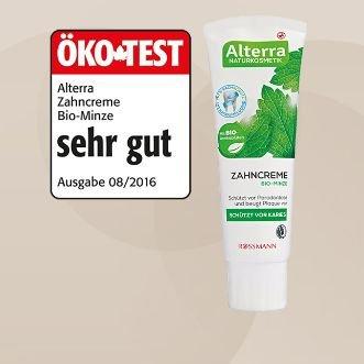 Alterra Zahncreme Bio-Minze 75 ml - Vegan.- OKO-TEST SEHR GUT