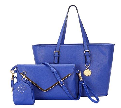 FZHLY Women 's Nuovo Stile Coreano Borse Tre - Pezzo Pacchetto,Black Blue