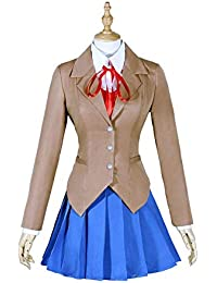 Monika Kostüm Damen Rock-Set Schuluniform Anime Cosplay Kleidung für  Hallween Verrücktes Kleid Merchandise 0391230728