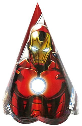 Untumble-Iron-Man-Avengers-Theme-Birthday-Party-Hats-Iron-Man-Party-Supplies-Caps-PACK-OF-20