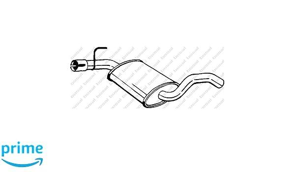 Mittelschalldämpfer für Abgasanlage BOSAL 233-693