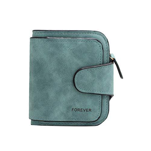 SuperSU Damen Mode Retro Geldbörse Einfach klein Portemonnaie Einfarbig Scrub mit Schnalle Design Kurz Geldbeutel,Portmonee Multi-Card-Bit Geldtasche Brieftasche Damengeldbörse -