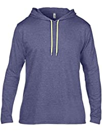 Anvil Men's Basic Double Stitched Hooded T-Shirt