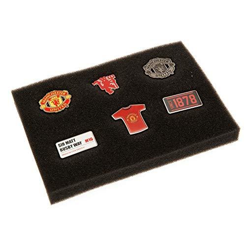 Manchester United FC Anstecknadel Set (6 Stück) (Einheitsgröße) (Rot)