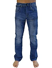 Hommes Pantalon Cargo Combat Jean By Crosshatch