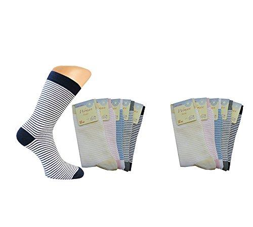 10 Paar Damen Socken mit feinen Ringeln Gr. 39/42 damensocken mit ringeln damensocken damensocken baumwolle bio baumwolle braun ringelsocken schwarz weiß damensocken ohne gummi Größe 35/38 39/42 (Socken Gestreifte Aus Bio-baumwolle)
