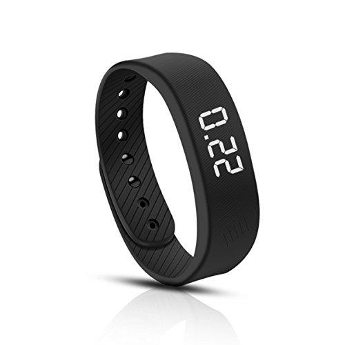 Cellay Fitness Tracker ohne Bluetooth Multifunktionen Armbanduhr Schrittszähler Handbandage Kalorienzähler Armbanduhr (Schwarz B)