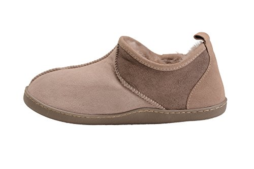 Confortable Reel Peau De Mouton Bottines Pantoufles Pour Hommes Et Femmes Beige