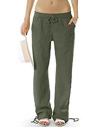 BestyledBerlin - Pantalon en lin pantalon femme