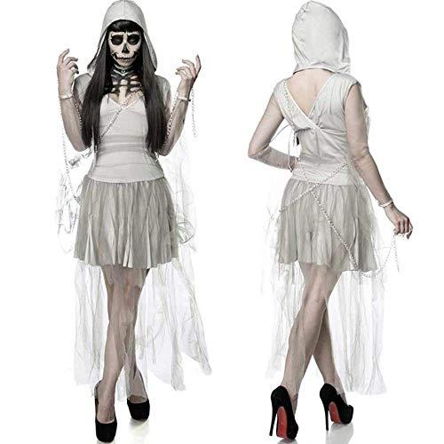 KAIDILA Halloween White Dämon Zombie Kostüm Gespenst Braut Wan San Pai Partei Bühnenoutfits
