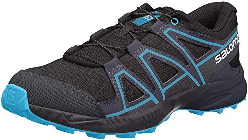 Salomon Kinder SPEEDCROSS J, Trailrunning-Schuhe, Schwarz (Black/Graphite/Hawaiian Surf), Größe 36