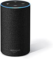 Amazon Echo (2nd Gen), Certified Refurbished, Black – Smart speaker with Alexa – Like new, backed with 1-year