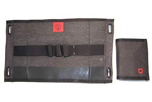 Grand Trunk Atom Slim Wallet und Weekender Kulturbeutel: Praktische Accesorry Pack/Paket mit RFID Security, Midnight, klein