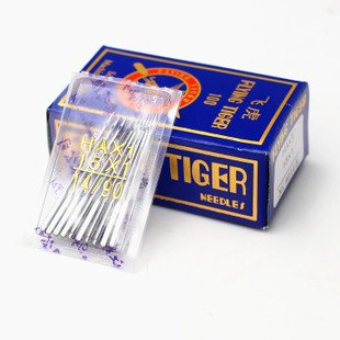 Tiger Original Sewing Machine Needle 3 packs , 30 needles) , HA x 14 no. Works with all automatic sewing machines (USHA/Singer/Brother/Rajesh)
