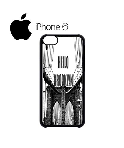 Hello Brooklyn New York Swag Mobile Phone Case Back Cover Hülle Weiß Schwarz for iPhone 6 Black Weiß