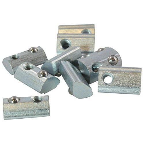 10x Nutenstein 5 St M5 Nut 5 - Typ I - M5 mit Steg, Federkugel, Stahl verzinkt