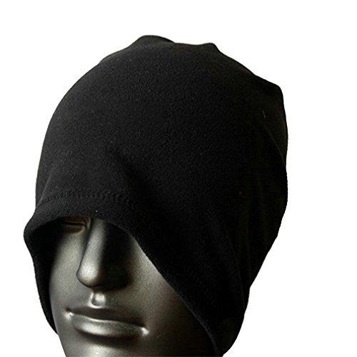 Toogoo(r) sciarpa scaldacollo cappello di vello unisex termica sci snowboard - nero