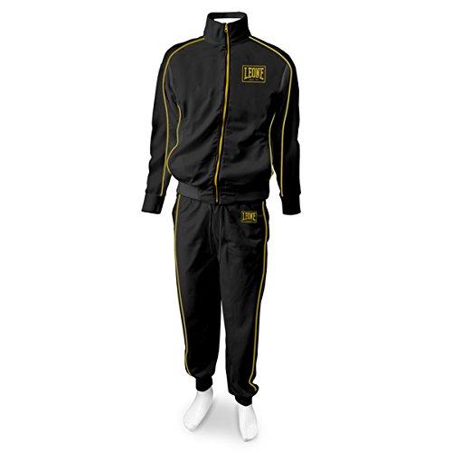 Tuta Sportiva Completa (Giacca e Pantaloni) Leone AB798 Nero (Medium)