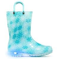 MOFEVER Toddler Kids Light up Wellies Wellingtons Rain Boots