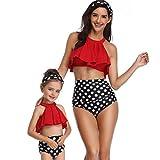 CICIYONER Badeanzug-Kleidung Mutter und Tochter drucken reizvollen zweiteiligen Badeanzug passende