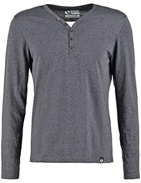 YOURTURN Langarmshirt Herren mit Knopfleiste – Basic Longsleeve Shirt mit Henley Ausschnitt – T-Shirt langarm...