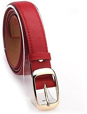 iShine Mujer Moda Casuales Cinturón Accesorios Vintage Piel Sintética Correa Hebilla Cinturones Cinturón