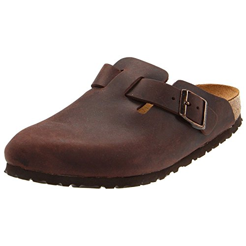 Birkenstock boston, sandali unisex da adulto, (braun (habana)), 38 eu