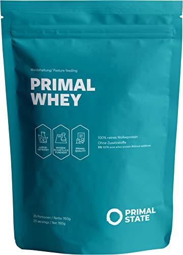 PRIMAL WHEY Proteinpulver | 100{7e32ecf2e527c786a70bce954fd1589031de0308f692d76317776e282c9fbf78} reines Premium Molkeprotein aus irischer Weidehaltung | Low Carb Protein zur Erhaltung & Zunahme der Muskelmasse