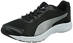 Puma Mens Expedite Pirate Black-Black-Silver Mesh Running Shoes - 9 UK/India (43 EU)