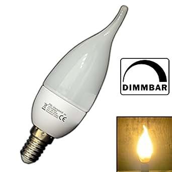 dimmbare e14 led windsto kerze 3 watt kerzenform flamme flammenform warmwei birne. Black Bedroom Furniture Sets. Home Design Ideas