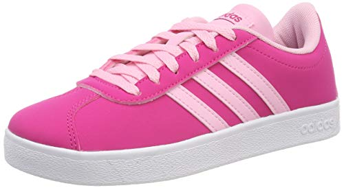 adidas Unisex-Kinder VL Court 2.0 K Fitnessschuhe, Mehrfarbig (Magrea/Rosaut/Ftwbla 000), 34 - Adidas Schuhe Tennis Kinder