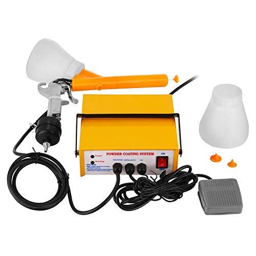 BananaB PC03-5 powder coating paint Pulverbeschichtungsgerät Pulverpistole 3.3 W 0.03A powder coating gun pulverbeschichten pulver set Gelbe Powder Coating System (PC03-5) -