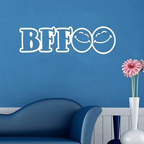 BFF Beste Freunde Für Immer Vinyl Wandaufkleber für Kinder Jugendliche Kinderzimmer Wandkunst Tapete Wohnkultur Wandtattoo Deco 15X57CM