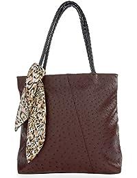 Leora Women's Handbag (Brown) (HNMG1129BR)