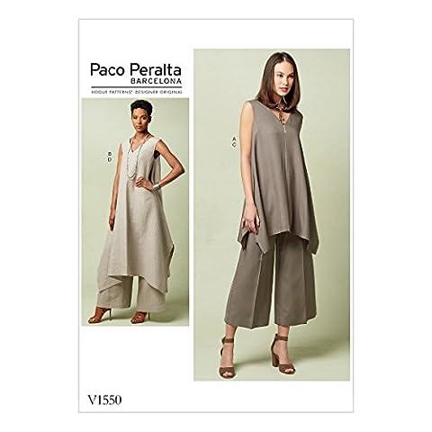 Vogue Patterns Patrons de tuniques et pantalons, Multicolore, tailles 6–14