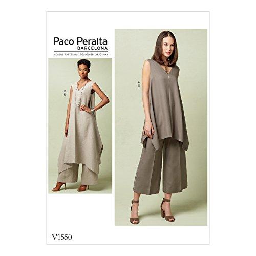 Vogue Hosen (Vogue Mustern Schnittmuster Tuniken und Hose, Mehrfarbig, Größen 14-22)