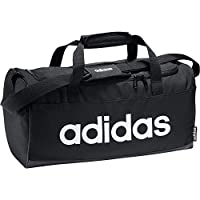 adidas Unisex Linear Core Small Duffel Bag, Black/Black/White