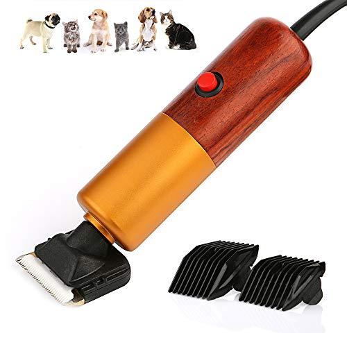 ZYWTZ Tierhaarschneider, Geschwindigkeit 3000-6000 U/min einstellen, 200W Leistung, Palisander Holz Körper, Geeignet für Hunde/Schafe/Rinder/Pferde/Kaninchen