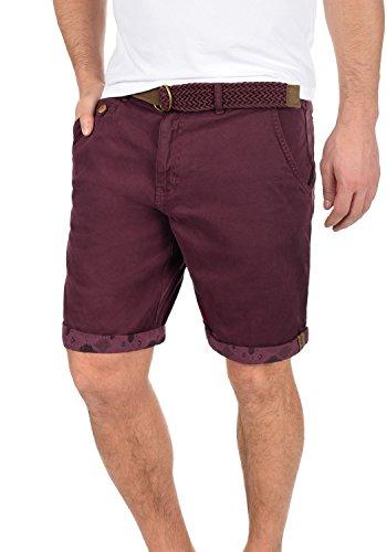 INDICODE Inka Herren Chino-Shorts kurze Hose mit Taschen aus 100% Baumwolle Wine (227)