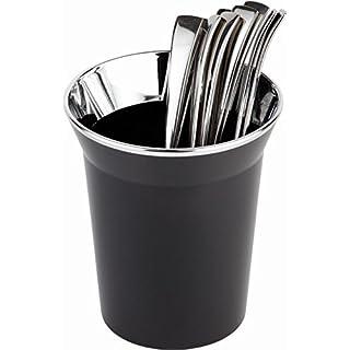 APS Tischreste- / Besteckbehälter, SAN, schwarz, Ø 13 cm, H: 15 cm