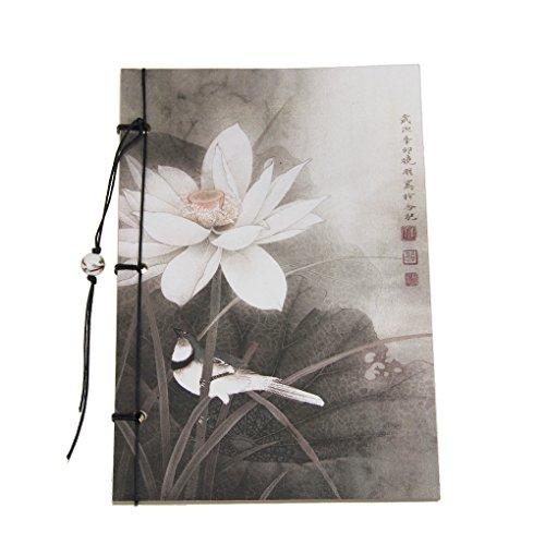 Preisvergleich Produktbild Liying Neu Notizbuch tagebuch Skizzenblock Skizzenbuch Zeichenblock Softcover 80g/m² 80 Seiten schöne Blumen Kraftpapier Blanko