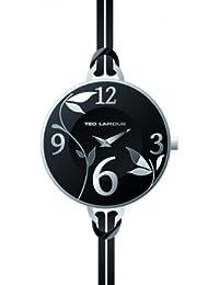 Ted Lapidus - A0524RNAN - Montre Femme - Quartz Analogique - Cadran Noir - Bracelet Cuir Noir