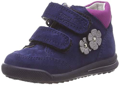 Superfit Baby Mädchen Avrile Mini Sneaker, Blau (Blau 80), 23 EU