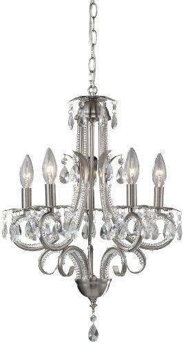 Z-Lite 849BN Kronleuchter mit 5 Lampen - 5 Lite Kristall Lampe