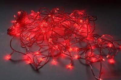 LED Lichterkette 10m 100 LEDs 8 Programme + Steuerbox 230V rot von LED auf Lampenhans.de